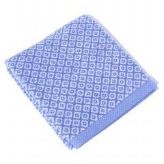 Serviette de toilette 50x100 cm SHIBORI mosaic Bleu 100% coton 500 g/m2