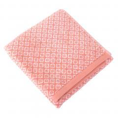 Serviette de toilette 50x100 cm SHIBORI mosaic Orange 100% coton 500 g/m2