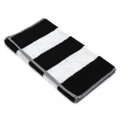 Serviette invité 33x50 cm MONA rayure blanc & noir 100% coton 480 g/m2