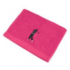 Serviette invite 33x50 cm 100% coton 550 g/m2 PURE GOLF Rose Fuchsia