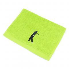 Serviette invite 33x50 cm 100% coton 550 g/m2 PURE GOLF Vert Pistache