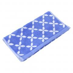 Serviette invité 33x50 cm SHIBORI floral Bleu 500 g/m2