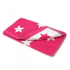 Serviette invité 33x50 cm 100% coton 480 g/m2 STARS Rose