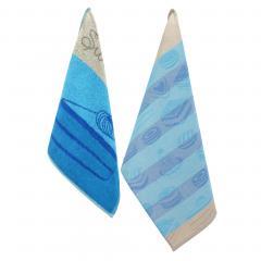 Set de 2 torchons de cuisine CAKES Bleu