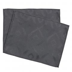 Lot de 2 sets de table 35x45 cm Jacquard 100% polyester BRUNCH anthracite