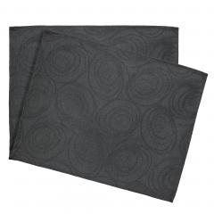 Lot de 2 sets de table 35x45 cm Jacquard 100% coton SPIRALE anthracite