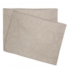 Lot de 2 sets de table 35x45 cm Jacquard 100% coton SPIRALE taupe