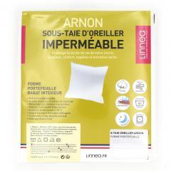 Housse de protection d'oreiller imperméable 50x75 cm ARNON molleton 100% coton contrecollé polyuréthane