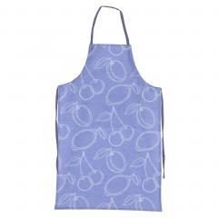 Tablier de cuisine 60x90 cm toile 100% coton LINE - Bleu