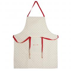 Tablier de cuisine Love beige
