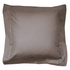 Taie d'oreiller uni 40x40 cm 100% coton ALTO Muscade