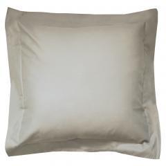 Taie d'oreiller uni 65x65 cm 100% coton ALTO Chamois