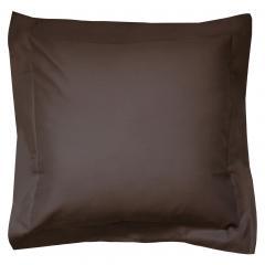 Taie d'oreiller uni 65x65 cm 100% coton ALTO Manganese
