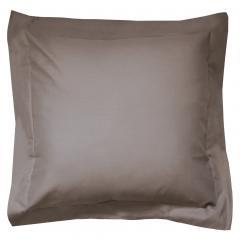 Taie d'oreiller uni 65x65 cm 100% coton ALTO Muscade