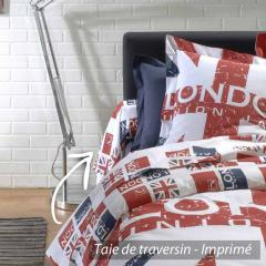 Taie de traversin 140x43 cm 100% coton LONDON Union Jack