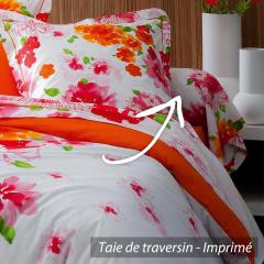 Taie de traversin 140x43 cm 100% coton NINA FLOWER * DESTOCKAGE *