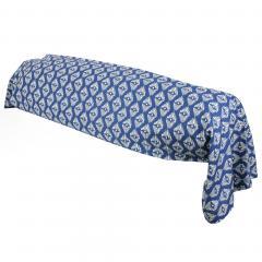 Taie de traversin 240x43 cm 100% coton RIO JADE bleu