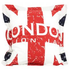 Taie d'oreiller 65x65 cm 100% coton LONDON Union Jack