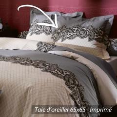 Taie d'oreiller 65x65 cm 100% coton MALICE