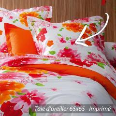 Taie d'oreiller 65x65 cm 100% coton NINA FLOWER * DESTOCKAGE *