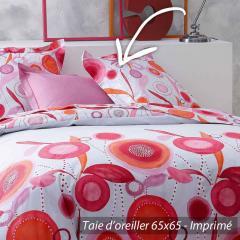 Taie d'oreiller 65x65 cm 100% coton OLLY * DESTOCKAGE *