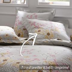 Taie d'oreiller 65x65 cm 100% coton ROXANNE  * DESTOCKAGE *