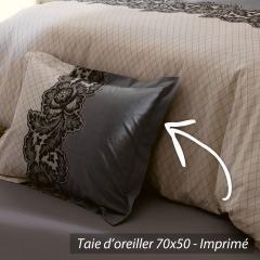 Taie d'oreiller 70x50 cm 100% coton MALICE