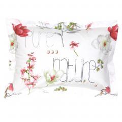Taie d'oreiller 70x50 cm Percale pur coton PURE NATURE Blanc