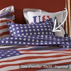 Taie d'oreiller 70x50 cm 100% coton USA