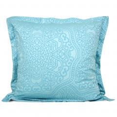 Taie d'oreiller 65x65 cm Satin de coton PANTHEON Bleu clair