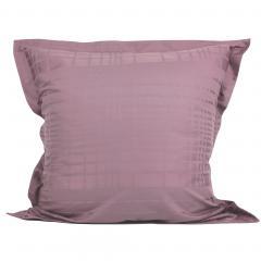 Taie d'oreiller 65x65 cm Satin de coton PIGALLE Violet