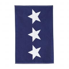 Tapis de bain 50x70 cm 100% coton 700 g/m2 STARS Bleu Marine