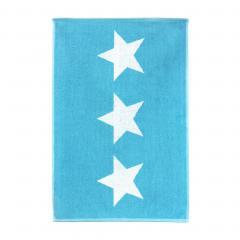 Tapis de bain 50x70 cm 100% coton 700 g/m2 STARS Bleu Turquoise