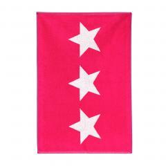 Tapis de bain 50x70 cm 100% coton 700 g/m2 STARS Rose