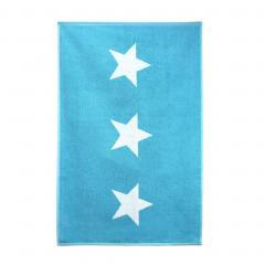 Tapis de bain 60x90 cm 100% coton 700 g/m2 STARS Bleu Turquoise