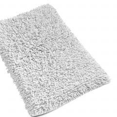 Tapis de bain 50x80 cm CHENILLE Blanc 1800 g/m2