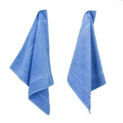 Lot de 2 torchons de cuisine 50x50 cm éponge PURE KITCHEN TERRY - Bleu Mer