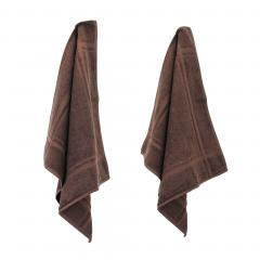 Lot de 2 torchons de cuisine 50x50 cm éponge PURE KITCHEN TERRY - Marron