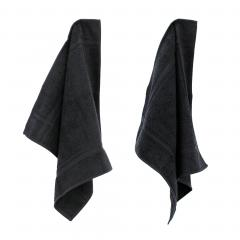 Lot de 2 torchons de cuisine 50x50 cm éponge PURE KITCHEN TERRY - Noir