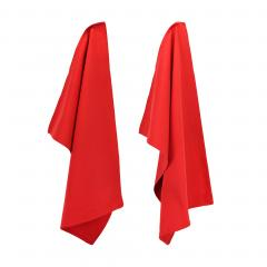 Lot de 2 torchons de cuisine 50x70 cm toile PURE KITCHEN TEA TOWEL - Rouge