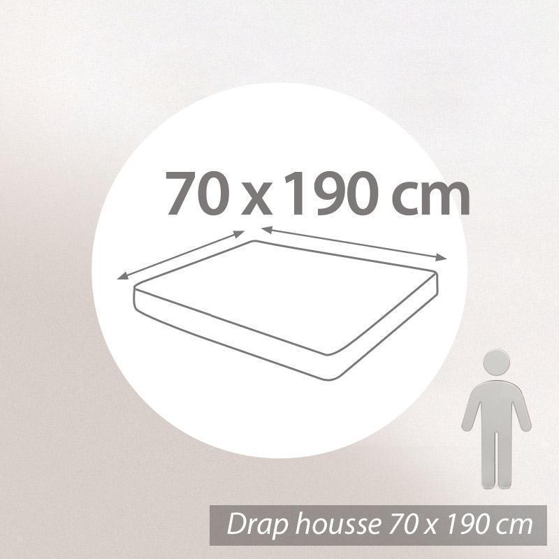 DRAP HOUSSE UNI 70x190 100% coton ALTO Belle ile   EUR 30,53