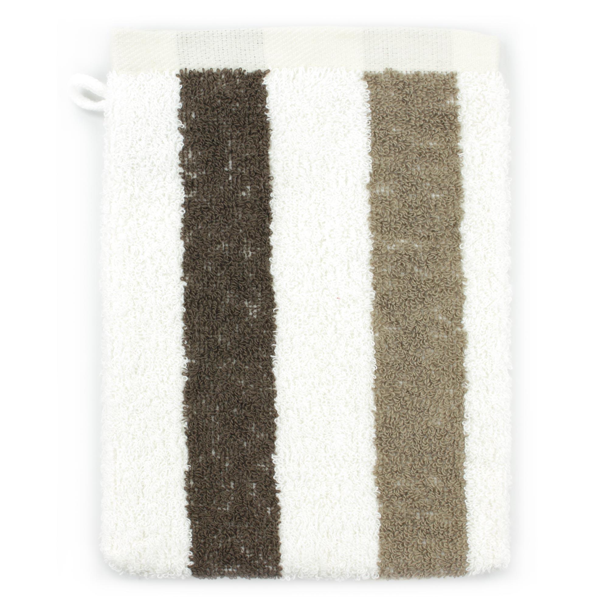 Gant-de-toilette-16x21-100-coton-480g-m2-CLASSIC-STRIPES-Marron
