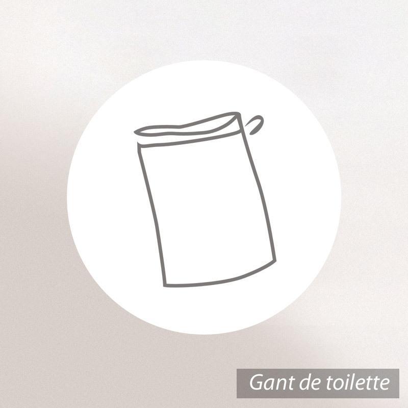 Gant-de-toilette-16x21-100-coton-480g-m2-CLASSIC-STRIPES-Marron miniature 3